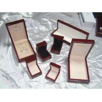 Wholesale Wooden jewelry box sets for earring, necklace, ring, pendants packaging box, glossy finished, velvet or PU lining from china suppliers