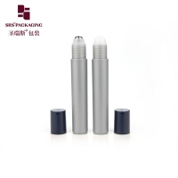 Wholesale Cosmetic plastic grey color empty 15ml cosmetic roll on bottle for perfume from china suppliers