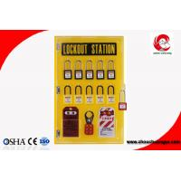 Wholesale 10-locks lockout center station with hasp and tagout Lockout tagout kits-10 lock board from china suppliers