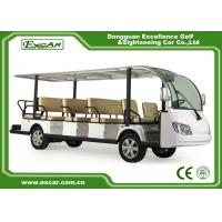 Wholesale EXCAR White 14 Seater Electric Sightseeing Bus With Trojan Battery from china suppliers