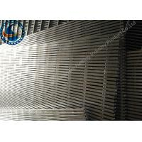Wholesale SS Filter Johnson Wire Screen , Stainless Steel Flat Wedge Wire Panel Non Clogging from china suppliers