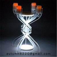 Wholesale CH (23) votive glass candle holder with acrylic stand from china suppliers