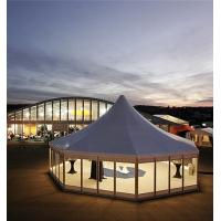 Wholesale Large Hexagonal Marquee Tent With Glass Door UV Resistance Cover from china suppliers