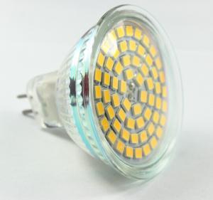 China led spot light 60pcs Epistar led SMD2835 MR16 AC12V 220V dimmable GU10 E27 glass cover on sale