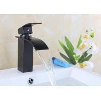 China Zinc Alloy Single Handle Waterfall Bathroom Faucet Easy Install ROVATE on sale