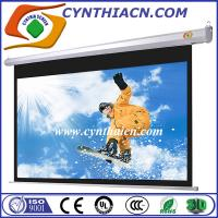 Quality Cynthia Screen 100 inch 16:9 HD matte white motorized projector sceen 3D home cinema for sale