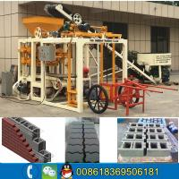 Wholesale Semi automatic cement sand brick block machine line/no need fire cement brick block machine from china suppliers