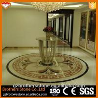 Wholesale Beige Marble Water Jet Medallion Bathroom Flooring And Wall Pattern Design from china suppliers