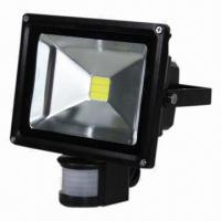 China 10w 100-240v portable LED Flood Light With PIR Motion Detector on sale