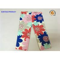 Buy cheap Large Floral Printed Cute Baby Girl Leggings Color Customized For Infant from wholesalers