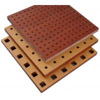 Wholesale Fire Resistant Perforated Wood Acoustic Panels Thickness 18mm / 15mm from china suppliers
