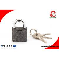 Quality High Security Iron Chrome Plated Black Color Iron Padlock 50mm for sale