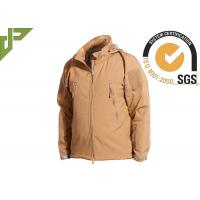 Wholesale Khaki Military Tactical Jackets Polyester Soft Shell Waterproof for Women / Men from china suppliers