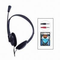 Buy cheap Multimedia Wired Headphones, Moderate Radian, Wide Steel Band, Wearing from wholesalers