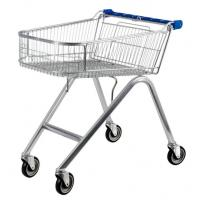 Wholesale American Style 71L UK Shopping Cart With Base Grid , Grocery Shopping Trolley from china suppliers
