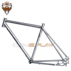Wholesale Wide Tire Road Titanium Bike Frame Hand Brush Ti3AL2.5V Ti6Al4V Material from china suppliers