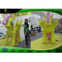Outdoor Holiday Inflatables Yellow Little Horse With LED Light 1.5m Tall Manufactures