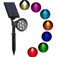 Buy cheap 7LED Solar Lamp Post Lights RGB Solar Powered Garden Stake Lights Outdoor from wholesalers
