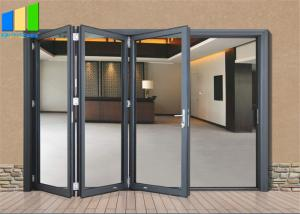 Wholesale Accordion Design Bifold Exterior Aluminum Alloy Glass Folding Patio Doors from china suppliers