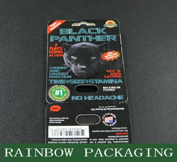 Sex Pills Packaging Black Panther Blister Card Packaging ...  Sex Pills Packa...
