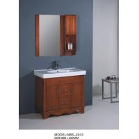 classics square sinks bathroom vanities with mirror light brown color 10559. Black Bedroom Furniture Sets. Home Design Ideas