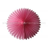 Wholesale Colorful Petal Shaped Round Tissue Paper Fan Decorations Customized Diy Paper Fans from china suppliers