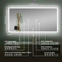 China STRIP LIGHT Illuminated Bathroom Mirrors With Bluetooth , Audio Bathroom Mirror on sale