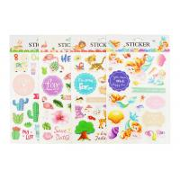 Wholesale Plant Custom Kids Sticker Printing , Puffy Animal Stickers Printed Blister Packaging from china suppliers