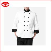 China White Women Chef Works Clothing , custom made chef Wear UK Coats XS - 3XL on sale