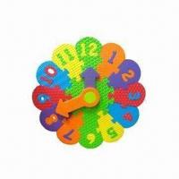 Wholesale EVA Educational Puzzle Clock, Customized Shapes and Colors are Welcome from china suppliers