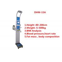 Wholesale Medical BMI Coin operated body fat Composition height weight measuring machine with printing and blood pressure from china suppliers
