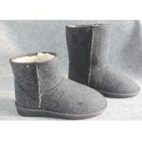 Wholesale Fasion Ladies Indoor Comfortable Warm Wool Felt Shoes and Short Boots from china suppliers
