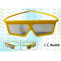 Wholesale REALD Cinema Yellow framed Circular polarized 3D glasses from china suppliers
