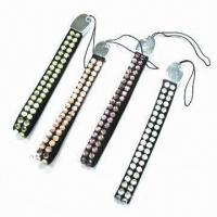 Wholesale Straps, Made of PU Leather with Hot-fix Stone and Alloy, Used for Mobile Phone from china suppliers
