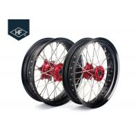 Wholesale 18 Inch CNC Aluminium Aftermarket Motorcycle Wheels ,  Black Motorcycle Rims With Hub from china suppliers