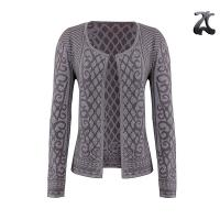 Simple Womens Shrug Sweater Soft Feel Jacquard Knitting Patterns Lurex Viscose