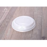 Wholesale Flat Disposable Lids PE / PLA Material Leakage Proof For Hot / Cold Drinks from china suppliers