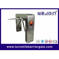Stainless Steel Semi Auto Half Height Turnstile Barrier Gate / Entrance Gate Security Systems