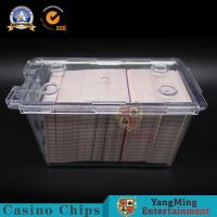 Wholesale 195g Casino Game Accessories Acrylic Cards Carrier 8 Deck Playing Cards Security Discard Holder For Baccarat Table from china suppliers