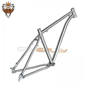 Wholesale Titanium Hardtail 29er Mountain Bike Frame Dropout Thru Axle Hanger Post Mount Disc Brake from china suppliers