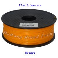 Wholesale Orange 1kg pla filament 3d printing materials 1.75mm 3.00mm from china suppliers