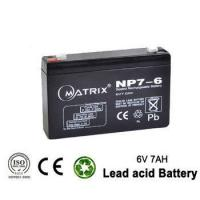 China Electric power system Sealed rechargeable lead acid battery 6V 7ah for Toy & Baby Carrier batteries on sale