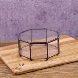Wholesale Black Frame Glass Jewellery Storage Box Dustproof Makeup Storage Box from china suppliers