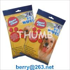 China 20pcs wet pet wipes on sale