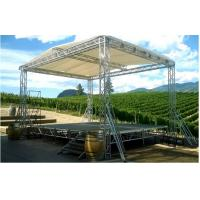 Quality Silver DJ Aluminum Box Truss , Hard Welding Outdoor Concert Stage Lighting Truss for sale