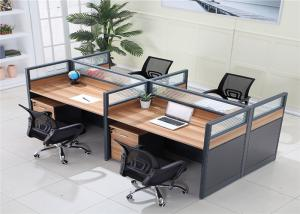 Wholesale Modern Type MFC Panel Mesh Office Chair With Wheels Cubicle Office Table 4 Seater Office Workstation from china suppliers