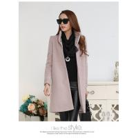 fashion high collar ladies elegant pure cashmere coat