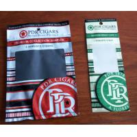 Wholesale Custom Cigar Humidor Bags / Cigar Wraps with Zipper and Window from china suppliers