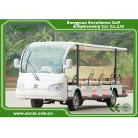 Wholesale White Electric Sightseeing Cart For 14 Person 4500 * 1500 * 200 MM from china suppliers