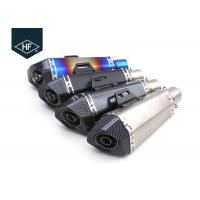 Wholesale Universal Stainless Steel Motorcycle Slip On Mufflers Hexagon For Suzuki GSXR750 from china suppliers